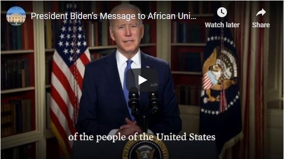 President Biden's Message to African Union Summit Participants