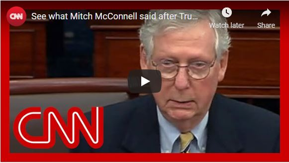 See what Mitch McConnell said after Trump's acquittal
