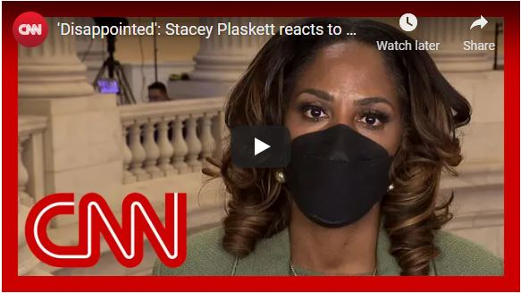 'Disappointed': Stacey Plaskett reacts to McConnell's remarks