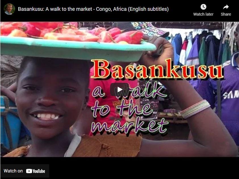 Basankusu: A walk to the market – Congo, Africa (English subtitles)