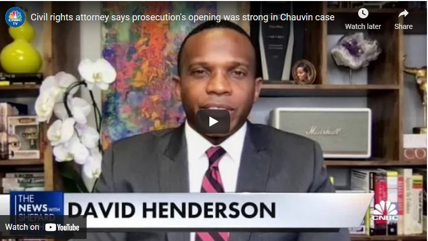 Civil rights attorney says prosecution's opening was strong in Chauvin case