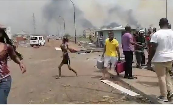 At least 17 people are killed and hundreds more injured as army barrack explosions rip through city in Equatorial Guinea