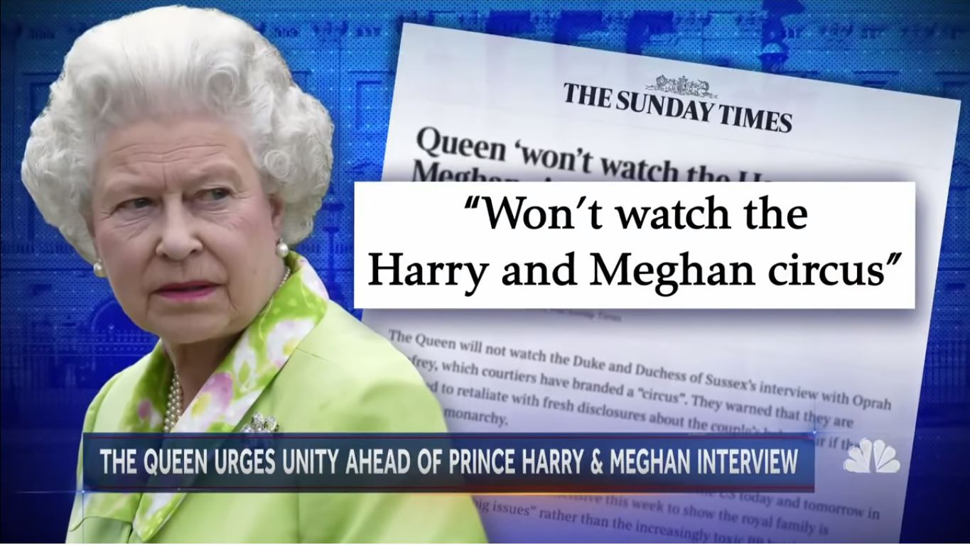 """Royal aides: Queen Elizabeth II """"Won't Watch The Harry and Meghan Circus"""" 