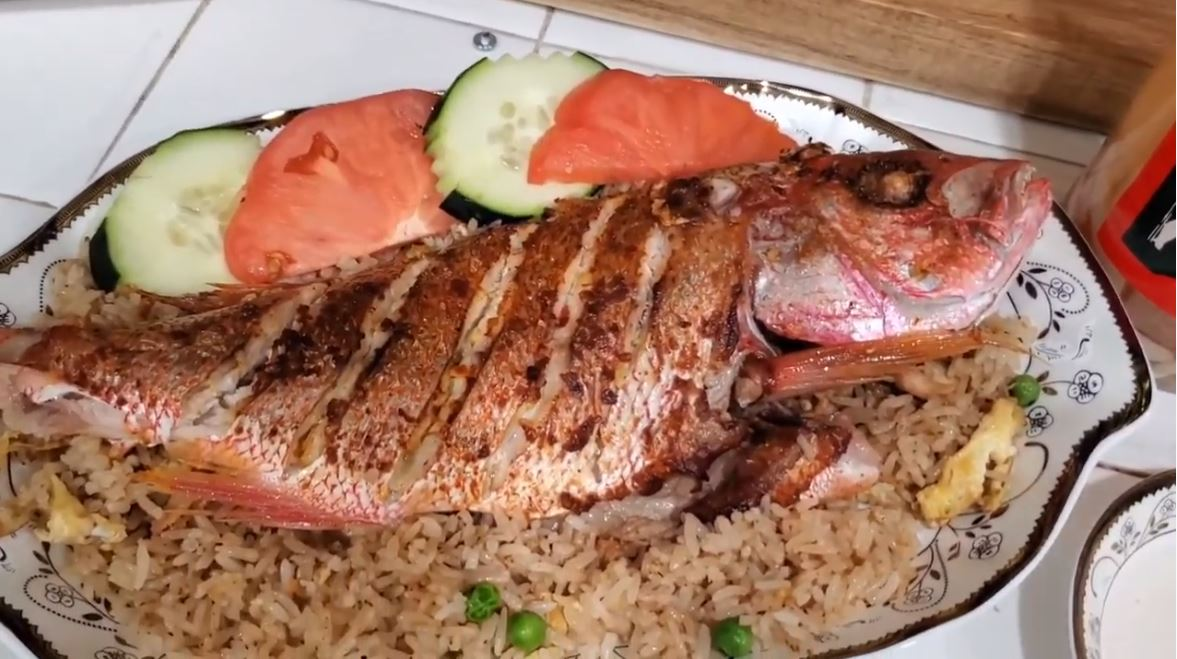 Griddle Top Red Snapper with Garlic Butter