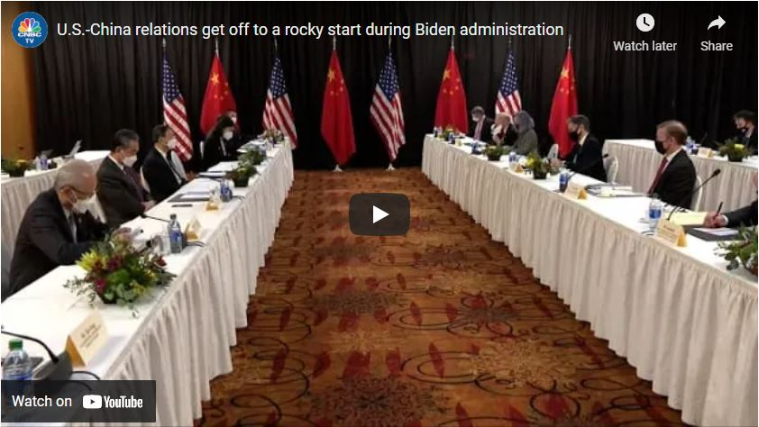 U.S.-China relations get off to a rocky start during Biden administration