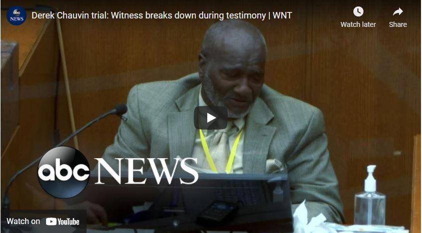 Derek Chauvin trial: Witness breaks down during testimony | WNT