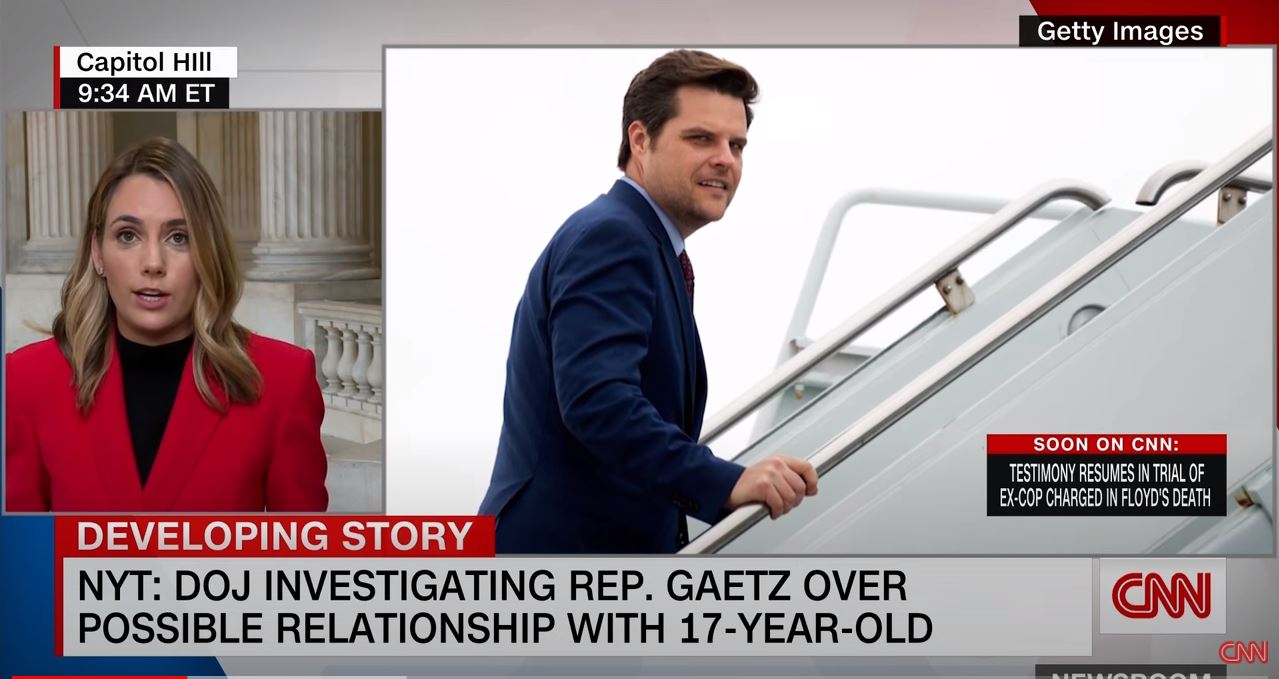 Matt Gaetz denies relationship with 17-year-old and claims extortion attempt