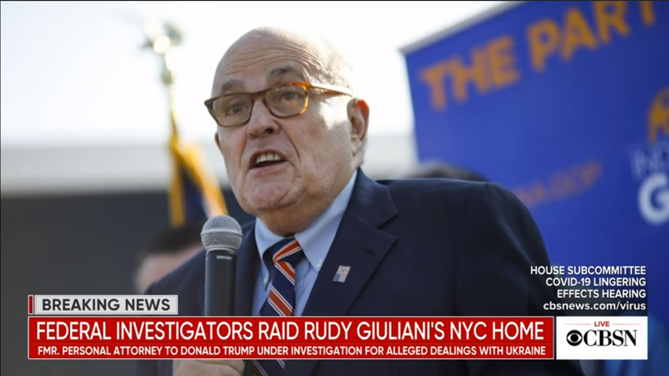 Federal agents execute search warrant at Rudy Giuliani's home
