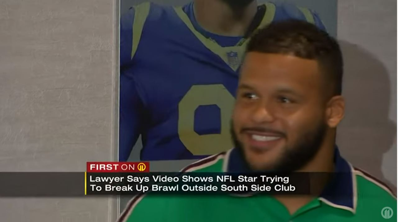 Lawyer says video proves NFL star Aaron Donald tried to stop fight, did not attack man in Pittsburgh