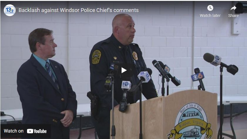 Backlash against Windsor Police Chief's comments