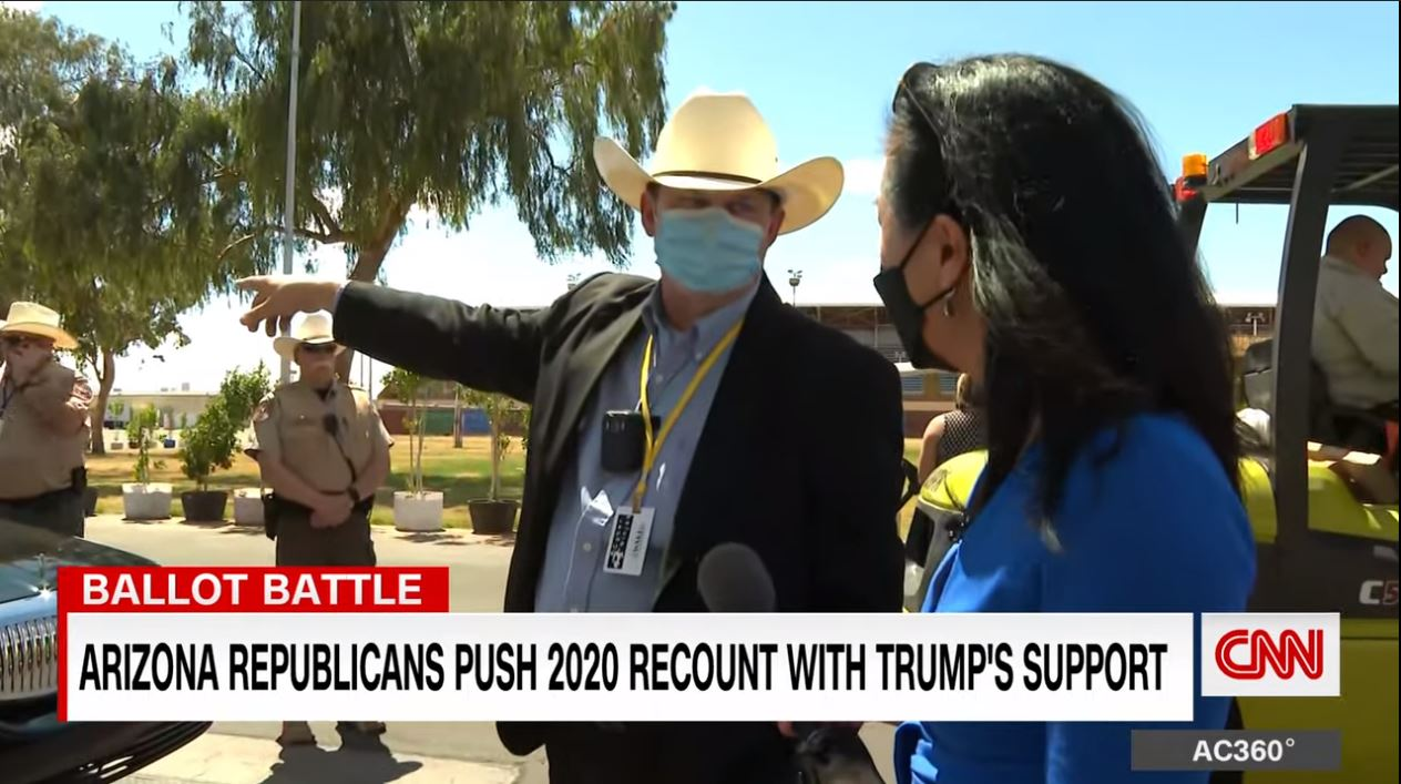 Men with badges tried to stop CNN reporter, but they weren't police