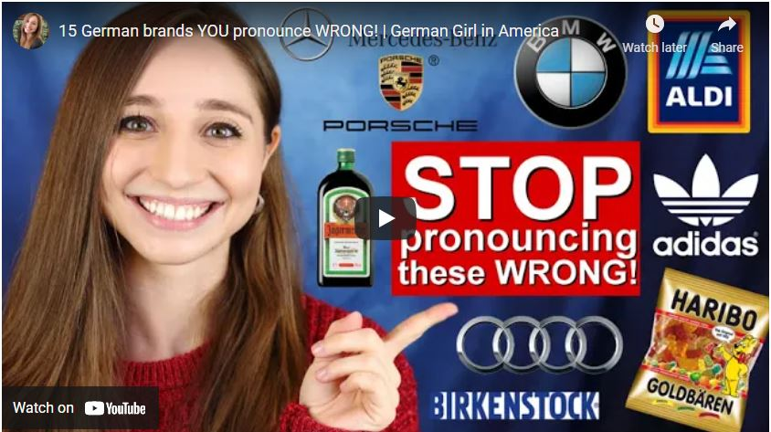 15 German brands YOU pronounce WRONG! | German Girl in America