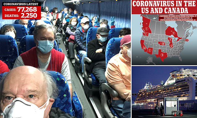 18 US cruise evacuees have coronavirus after CDC warnings