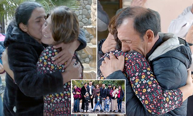 Woman reunited with Romanian family 25 YEARS after she was kidnapped