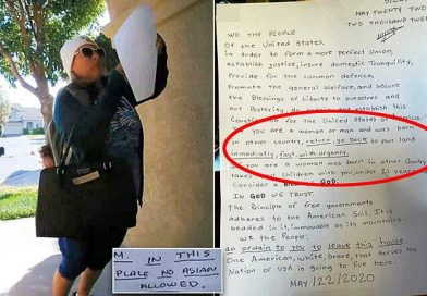 Woman 'left letters at homes ordering foreign-born to leave'